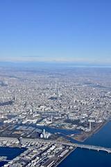 東京スカイツリー (yuki_alm_misa) Tags: 東京スカイツリー plane aeroplane airplane 航空機 飛行機 aircraft tokyoskytree tokyobay 東京 東京湾 航空写真 tokyo tower skytree