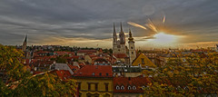 Zagreb Croatia Sunset DSC_7358 (JKIESECKER) Tags: zagreb croatia cityscenes cityscapes cityskyline sunset europe churches