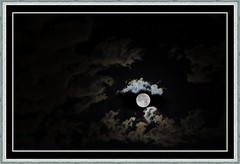 Moonshine (MoparMadman63) Tags: fullmoon moonlit clouds moon framed artistic nature sky dark night