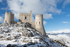 Ancient fortification in the snowy mountains of Abruzzo, Italy (Brambilla Simone Fotografo) Tags: alps ancient architecture austria austrian background baroque blue building castle cathedral center christmas church city cityscape cliff europe european evening exterior fortress historic hohensalzburg house landmark landscape medieval mountain mountains mozart nature new old palace panorama river salzburg sky skyline snow stone street sunset tourism tower town travel vacation winter