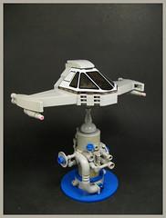 The Flugal (Karf Oohlu) Tags: lego moc scifi spaceship desktoptoy microscale microspacetopia