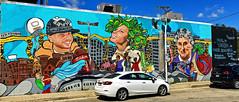 Logan Square by Sam Kirk &Sandra Antongiorgi (wiredforlego) Tags: graffiti mural streetart urbanart aerosolart publicart chicago illinois ord sandraantongiorgi samkirk