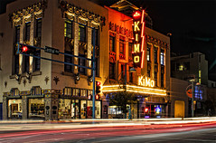 Kimo Theater (Mark Chandler Photography) Tags: 7dmarkii albuquerque markchandler nm newmexico night oldtown canon city color colour diner lights longexposure neon photo photograhy route66 stock street urban theater theatre kimo route 66 central avenue ave lightstream historic