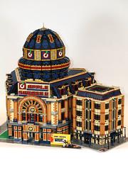 ASRC vs the Original ASU (RedCoKid) Tags: lego legodigitaldesigner ldd modular building moc science research dome
