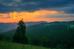Tatra sunrise (Siuloon) Tags: tatra sunrise sunlight tatry ząb zakopane gubałówka view sun vacation holiday tree travel green mountain góry sky wschódsłońca dolina krajobraz landscape canon