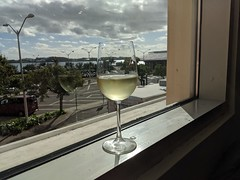 Glass of Wine in the Airport Lounge