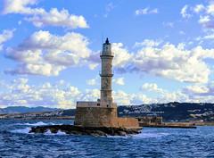 The Lighthouse (Ioannis Ks) Tags: lighthouse sky sea clouds waves winter crete