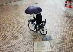 UDINE. VIA MERCATOVECCHIO. (FRANCO600D) Tags: ud udine selciato pavimentazione porfido viamercatovecchio viamercatovecchiopavimentazione pietrapiasentina fvg friuli friuliveneziagiulia bicicletta bici ciclista ombrello pioggia rain giornatapiovosa centrocittà centrostorico