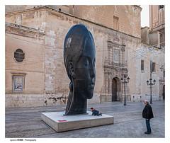 The face (Ignacio Ferre) Tags: elche valencia españa spain lumix panasonic escultura sculpture jaumeplensa art arte cabeza head face cara