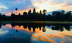 Angkor Wat Reflection (aykutgebes) Tags: cambodia angkor reflect reflection sunrise silhouette temple travel