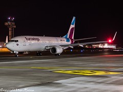 Eurowings D-ABKM HAJ at Night (U. Heinze) Tags: aircraft airlines airways airplane planespotting plane flugzeug haj hannoverlangenhagenairporthaj night nightshot olympus omd eddv em1markii 12100mm