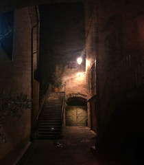 Cotignac Alley (johnsinclair8888) Tags: ancient cave mystery provance affinityphoto composite night france cotignac