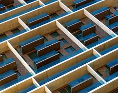 The grid wall (jefvandenhoute) Tags: belgië antwerpen grid wall windows antwerpenzuid geometric shapes janneke
