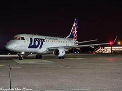 LOT Polish Airlines SP-LDG HAJ at Night (U. Heinze) Tags: aircraft airlines airways airplane planespotting plane flugzeug haj hannoverlangenhagenairporthaj night nightshot olympus omd eddv em1markii 12100mm