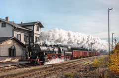 Wasungen (Kingmoor Klickr) Tags: gordonedgar wasungen werratal plandampf 528079 railwaystation semaphore signal
