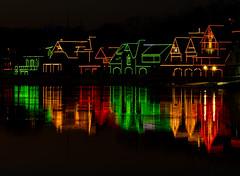Christmas on Boathouse Row (Dalliance with Light (Andy Farmer)) Tags: lights night philly water schuylkillriver holiday boathouses christmas philadelphia reflection pennsylvania unitedstatesofamerica