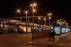 IMG_2606-1 (JoTomOz) Tags: train bus waiting night station transportation commute