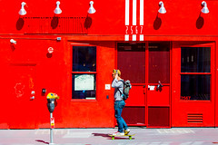 And Tomorrow's Out of Sight (Thomas Hawk) Tags: america bayarea california mission missiondistrict sf sfbayarea sanfrancisco usa unitedstates unitedstatesofamerica westcoast red skateboard fav10 fav25 fav50 fav100