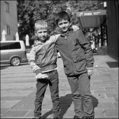 Friendship (Koprek) Tags: yashicamat124g film analog 6x6 120 medium format fomapan 100 friendship friends kids childhood