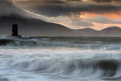 Kinard Sea Stack (Des Daly) Tags: storm elsa dingle wave beach seastack sunrise rough