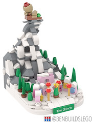 """Micro Lego """"How the Grinch Stole Christmas"""" MOC (4) (BenBuildsLego) Tags: christmas winter village lego legos afol moc how grinch stole micro microscale architecture skyline mini whoville dr seuss"""