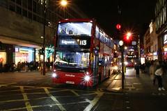 Lights On Oxford Street (crashcalloway) Tags: volvo mcvevoseti route113 londonbus london bus oxfordstreet christmas2019 christmas lights night nightphotography londonatnight afterdark longexposure transport