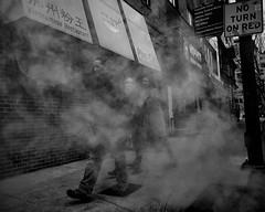 Arch Street, 2018 (Alan Barr) Tags: philadelphia archstreet 10thstreet 2018 street sp streetphotography streetphoto steam smoke blackandwhite bw blackwhite mono monochrome candid city people panasonic gx9