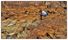 Fotografiando el detalle. (Guillermo de Baskerville) Tags: piedras stone rio river rojo red