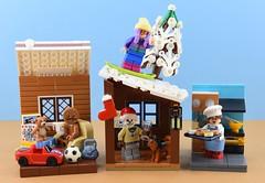 Random minifigs #14 : Christmas people (Alex THELEGOFAN) Tags: lego legography minifigure minifigures minifig minifigurine minifigs minifigurines vignette christmas xmas house snow cold santa winter moc