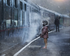 Last call (Lynne Williams Photography in Wales) Tags: train steam vintage winter boy carriage platform journey adventure child station travel