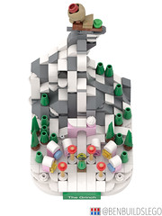 """Micro Lego """"How the Grinch Stole Christmas"""" MOC (3) (BenBuildsLego) Tags: christmas winter village lego legos afol moc how grinch stole micro microscale architecture skyline mini whoville dr seuss"""