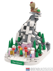 """Micro Lego """"How the Grinch Stole Christmas"""" MOC (2) (BenBuildsLego) Tags: christmas winter village lego legos afol moc how grinch stole micro microscale architecture skyline mini whoville dr seuss"""