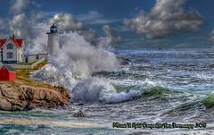 12-26-19 Lighthouse in the Storm (Michael F. Nyiri) Tags: capeneddick maine sea seacoast ocean art artwork compositeartwork composite sky clouds