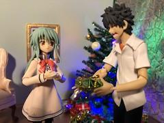 """I'm Sorry I Don't Have a Gift for You!"" (Sasha's Lab) Tags: nozomi akiyama teen girl touma kamijo high school boy christmas party gift figma action figure jfigure gsc"