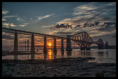 Forth road and Rail Bridges. (Adrian Walker.) Tags: elements scotland forthbridge sky sunset canon80d tamron koodfilters nikefex