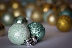 All that glitters (soniamarmen) Tags: christmas ornaments glitter gold macro
