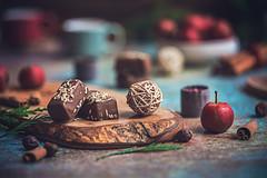 Life happens Chocolate helps (Chapter2 Studio) Tags: stilllife sonya7ii simplicity chapter2studio calm classic coffee cinnamon cookies chocolate holiday happiness