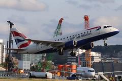British Airways Cityflyer G-LCYI LCY 06/08/19 (ethana23) Tags: planes planespotting aviation avgeek aircraft aeroplane airplane embraer e170 170 britishairways ba speedbird cityflyer