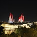 Flame Towers by night, Baku