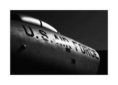 US Air Force (DJ Wolfman) Tags: airplane jet usairforce kansasaviationmuseum wichita wichitaks blackandwhite bw art aircraft black white details olympus olympusomd em1markii zuiko zd 12100mmf4zuiko micro43