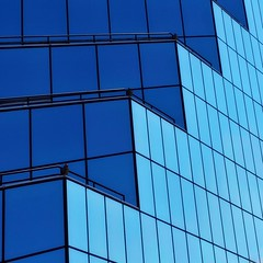 Friday Blue (2n2907) Tags: abstract architecture reflection glass office building windows skyscraper graphic design geometry geometric pattern shapes lines blue diagonal