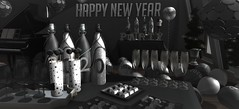 Ready for 2020 (Miru in SL) Tags: sl second life mesh cosmopolitan event celebration 2020 new years monochrome blackwhite party classy silver decor furniture home garden lisp tarte hive your dreams what next west village