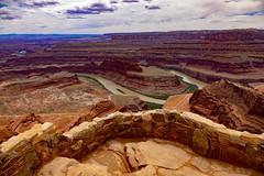 Colorado River (mariola aga) Tags: utah statepark deadhorsepointoverlook coloradoriver meanders geology erosion highdesert cliffs rocks landscape nature wideangle