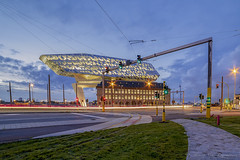 Havenhuis ( Antwerp ) (vanregemoorter) Tags: antwerp city cityscape bluehour longexposure belgium belgique anvers