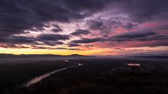 Christmas sunset (Ivan Vranić hvranic) Tags: landscape river croatia sunset christmas clouds beautifulearth