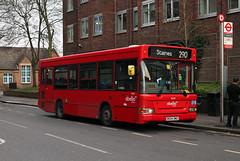 Route 290, Abellio London, 8020, BX54DMZ (Jack Marian) Tags: route290 abelliolondon 8020 bx54dmz dennis dart dennisdart plaxton pointer plaxtonpointer staines twickenham buses bus london