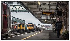 New Flow for Penyffordd (Jim the Joker) Tags: 66737 class66 lesia gbrf 6y75 cementtanks shrewsbury railwaystation 150253 175003 transportforwales tfw freight railway train