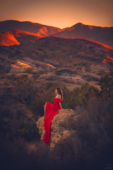 Lookout ({jessica drossin}) Tags: jessicadrossin portrait mountains desert red height profile distance california wwwjessicadrossincom