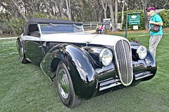 1937 Peugeot 402 Cabriolet at Amelia Island 2010 (gswetsky) Tags: peugeot 402 cabriolet amelia island antique european french
