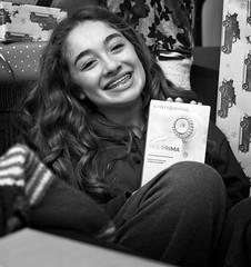 Catch a smile (Jack Blackstone (Travel-Off/On)) Tags: 2019 em1mkii holiday christmas catchasmile smileonsaturday monochrome female teen braces granddaughter courtland blackandwhite smile teeth